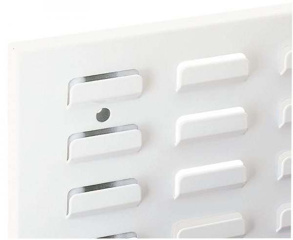 ®RasterPlan Schlitzplatte B 1500 mm x H 450 mm Breitformat RAL 9010 - Reinweiß Universell kombinier- und einsetzbar. Kompatibel mit ®RasterPlan Lochplatten.