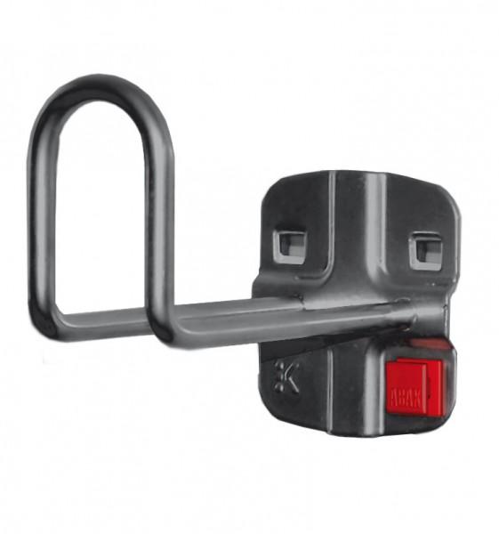 ®RasterPlan/ABAX® Kabelhalter Länge 100 mm / Höhe Hakenende 50 mm Anthrazitgrau