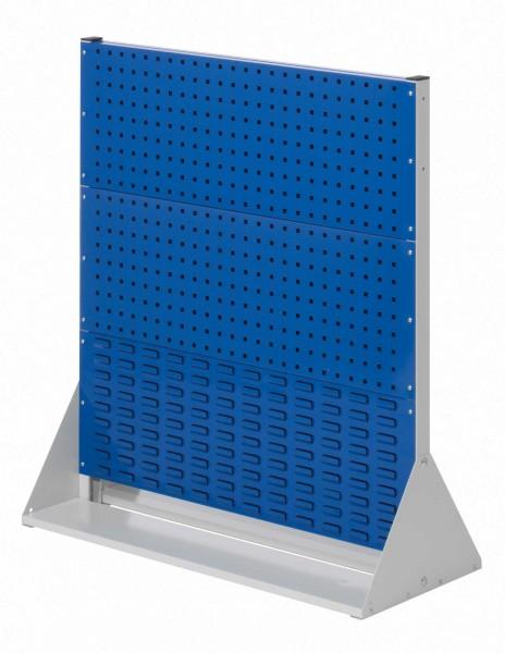 RasterPlan Stellwand Gr.3 doppelseitig, H1100 x B1000 x T430 mm. 4 Lochplatten, 2 Schlitzplatten.