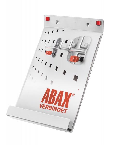 RasterPlan/ABAX Prospekthalter DIN A 4, lichtgrau.