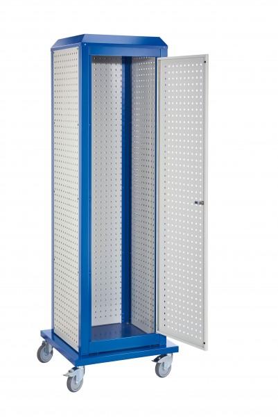 RasterPlan ToolTower groß Mod 2, mobil, RAL 7035/5010. 3LP außen, 1 LP Tür.
