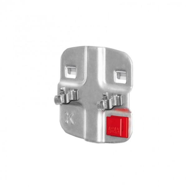 ®RasterPlan/ABAX® Doppelte Werkzeugklemme Durchmesser 10 mm Alufarben