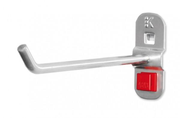 RasterPlan /ABAX Werkzeughalter alufarben, L 150 mm, schräges Hakenende.