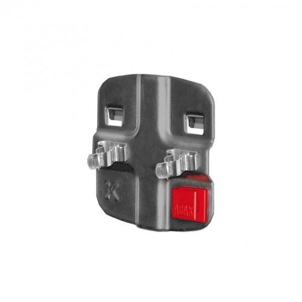 ®RasterPlan/ABAX® Doppelte Werkzeugklemme Durchmesser 13 mm Anthrazitgrau