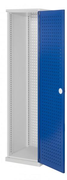 RasterPlan Schubladenschrank schmal Mod 1, 1950 x 600 x 600 mm, RAL 7035/5010, Lochplattentür.