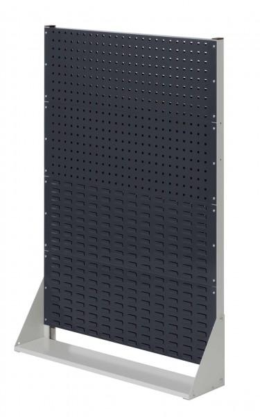 RasterPlan Stellwand Gr.4 einseitig, H1450 x B1000 x T240 mm, RAL 7035/7016. 2 Lochplatten, 2 Schlitzplatten.