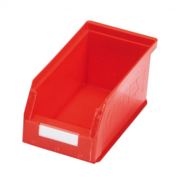 ®RasterPlan Lagersichtkasten Größe 5 Mit Aufhängeleiste für ®RasterPlan Schlitzplatten Rot L 290 mm x B 140 mm x H 130 mm