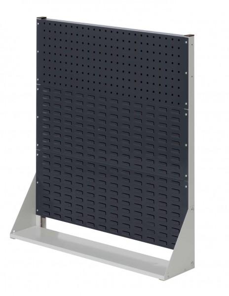 RasterPlan Stellwand Gr.3 einseitig, H1100 x B1000 x T240 mm, RAL7035/7016. 1 Lochplatten, 2 Schlitzplatten.