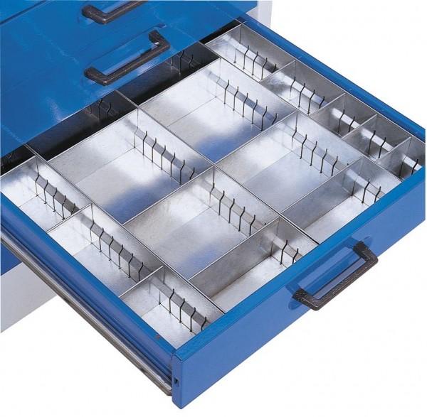 Schubladeneinteilungset verzinkt, für ®RasterPlan Arbeitsplatzschrank.