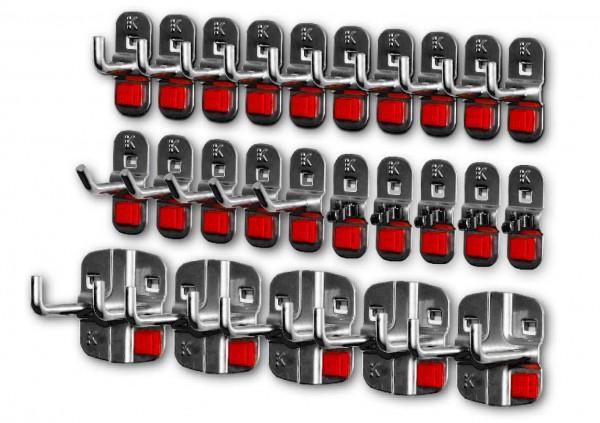 RasterPlan/ABAX Werkzeughalter-Sortiment, 25-teilig anthrazitgrau.