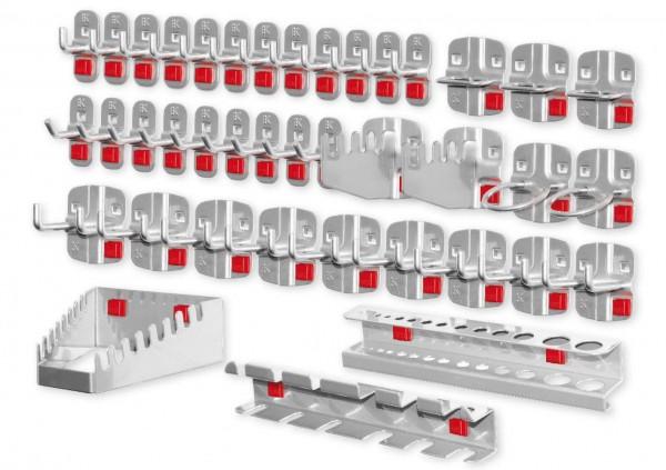 RasterPlan/ABAX Werkzeughalter-Sortiment, 40-teilig alufarben.