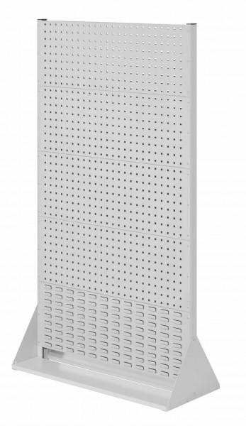 RasterPlan Stellwand Gr.5 doppelseitig, H1790 x B1000 x T430 mm, RAL 7035. 8 Lochplatten, 2 Schlitzplatten.