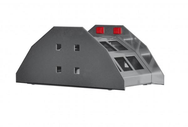 ®RasterPlan/ABAX® Schlauchhalter Breite 230 mm x Tiefe 125 mm Anthrazitgrau