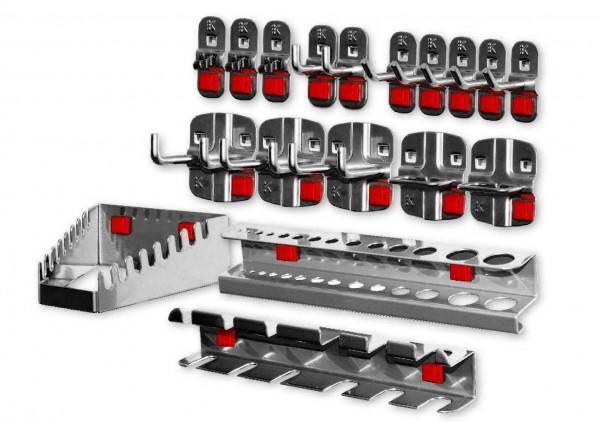 RasterPlan/ABAX Werkzeughalter-Sortiment, 18-teilig anthrazitgrau.