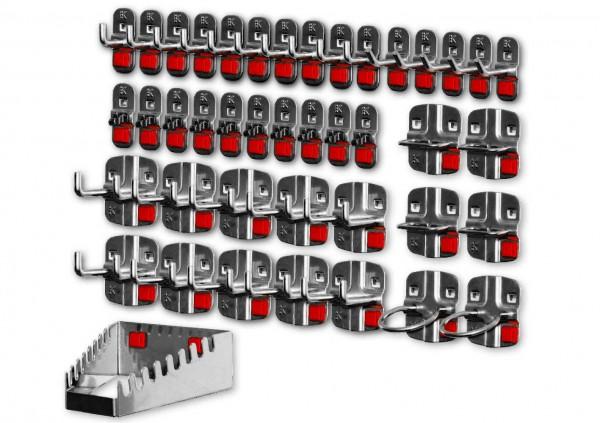 RasterPlan/ABAX Werkzeughalter-Sortiment, 42-teilig anthrazitgrau.