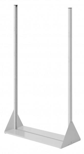 RasterPlan Stellwand Standmodul Gr. 5, H1790 x B1000 x T430 mm, RAL 7035. Doppelseitig, ohne Platten.