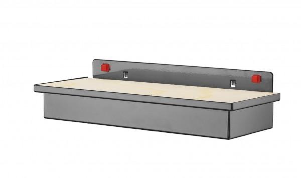 RasterPlan/ABAX Werkzeugaufnahmebox, mit Holzplatte anthrazitgrau.