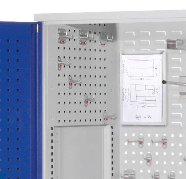 RasterPlan Seitenwandverkleidung linke Seite, Systemlochung B497 x H 455mm, RAL 7035.