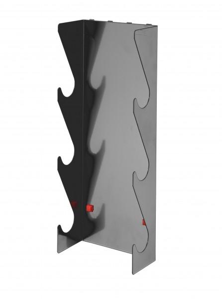 RasterPlan/ ABAX Rohrhalter 3-fach, anthrazitgrau.