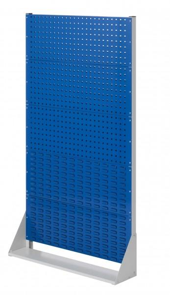 RasterPlan StellwandGr.5 einseitig, H1790 x B1000 x T240 mm, RAL 7035/5010. 3 Lochplatten, 2 Schlitzplatten.