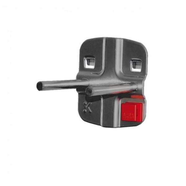 RasterPlan/ABAX Doppelter Werkzeughalter mit, geradem Dorn L 50 mm, anthrazitgrau.