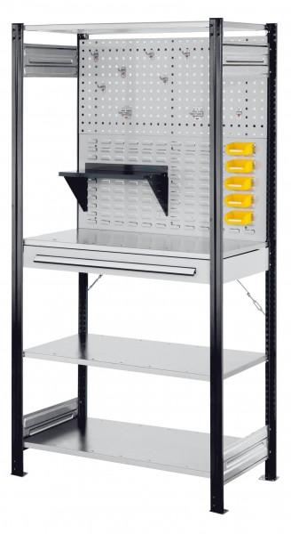 RasterPlan Steckregal Grundfeld RAL 7016 Modell 5, 2000 x 1000 x 500 mm.