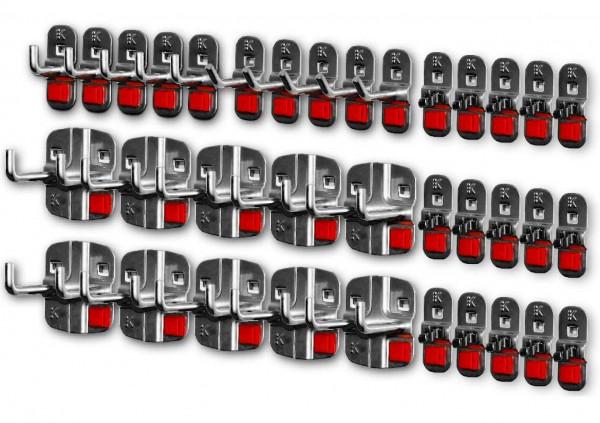 RasterPlan/ABAX Werkzeughalter-Sortiment, 35-teilig anthrazitgrau.