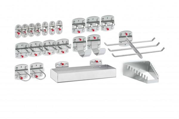RasterPlan Werkzeughalter-Sortiment, 21-teilig alufarben.