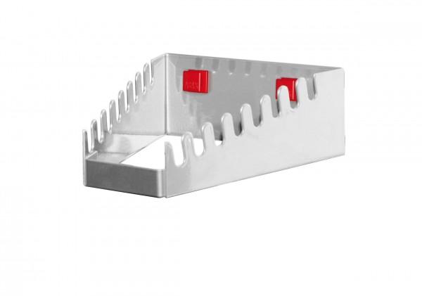 RasterPlan/ABAX Schraubenschlüsselhalter, waagerecht alufarben für 8 Schlüssel.