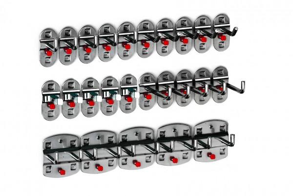 RasterPlan Werkzeughalter-Sortiment, 25-teilig anthrazitgrau.