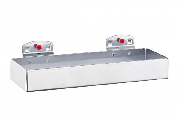 ®RasterPlan Ablagebox, klein Breite 250 mm x Tiefe 80 mm x Höhe 35 mm Alufarben