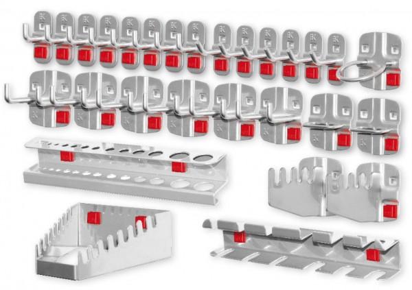 RasterPlan / ABAXWerkzeughalter-Sortiment, 28-teilig alufarben.