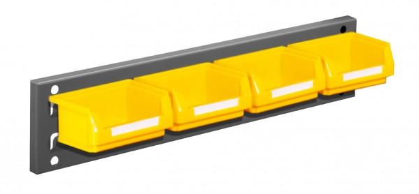 RasterPlan Wandschiene Schlitzplatte Set 1, L 460 mm, x H 100 mm, RAL 7016. 4 x Lsk. Gr. 8.