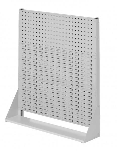 ®RasterPlan Stellwand Gr. 3 einseitig, H1100 x B1000 x T240 mm, RAL 7035. 1 Lochplatten, 2 Schlitzplatten.