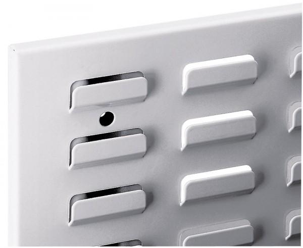®RasterPlan Schlitzplatte B 1500 mm x H 450 mm Breitformat Alufarben Universell kombinier- und einsetzbar. Kompatibel mit ®RasterPlan Lochplatten.