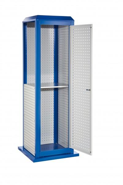 RasterPlan ToolTower groß Mod 3, stationär, RAL 7035/5010. 2 LP außen groß, 2 LP innen groß,