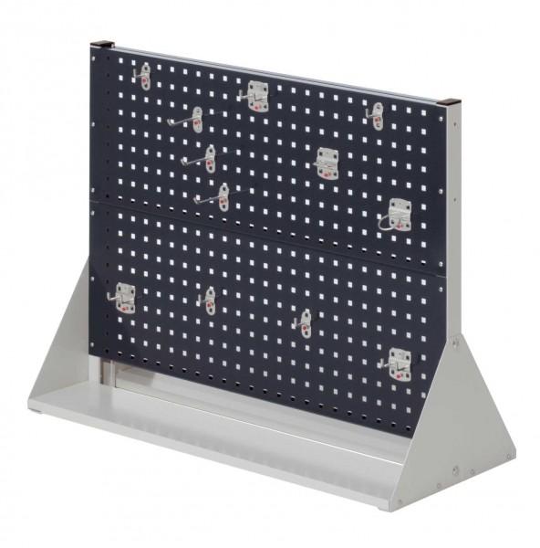 RasterPlan Stellwand Gr.2 doppelseitig, H760 x B1000 x T430 mm, RAL 7035/7016. 1 x Werkzeughaltersortiment 12-teilig.