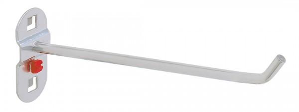 ®RasterPlan Werkzeughalter, schräges Hakenende Länge 200 mm Alufarben