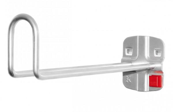 RasterPlan/ABAX Kabelhalter alufarben, L 200 mm.
