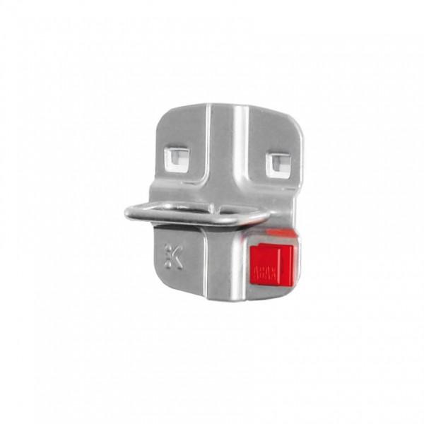 ®RasterPlan/ABAX® Zangenhalter Breite 50 mm x Tiefe 75 mm Alufarben