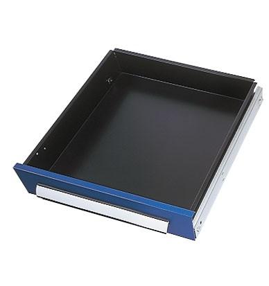 Schublade RAL 5010 H100 mm, Breite 500 mm, Vollauszug.