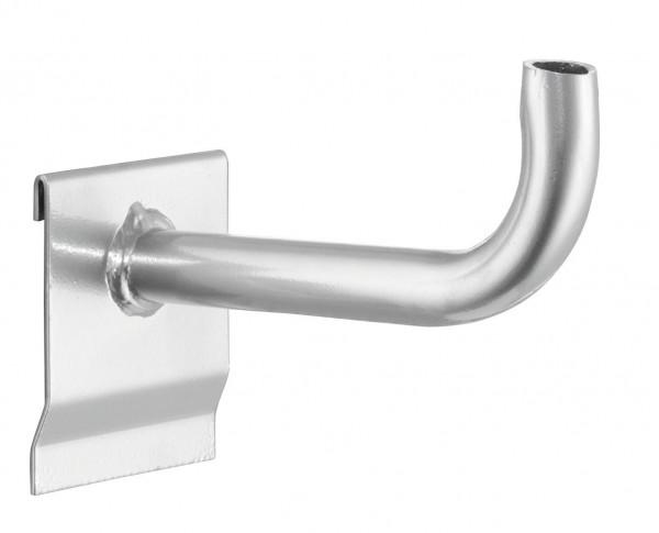RasterPlan Rohrträger alufarben, L160 mm, D20 mm.
