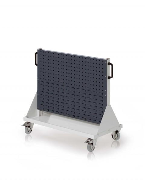 RasterMobil Gr. 2 RAL 7035/7016, H890 x B1000 x T500 mm. 2 Lochplatten, 2 Schlitzplatten.