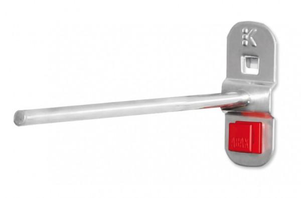 RasterPlan/ABAX Werkzeughalter gerader Dorn, 150 mm, alufarben.