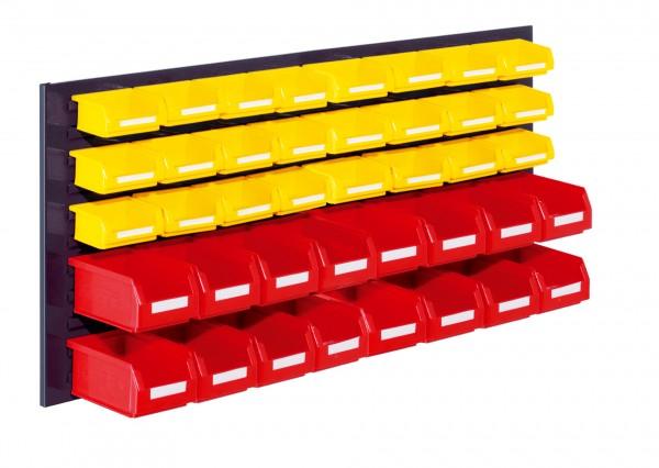 RasterPlan Schlitzplatten Einsteigerset 12, RAL 7016. 1 x Schlitzplatte H 450 x B 1000 mm,16 x Lsk. Gr. 7, 24 x Lsk. Gr. 8.
