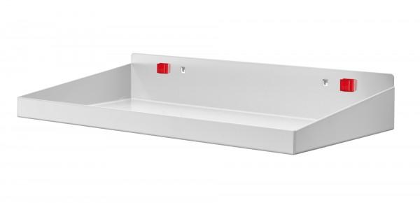 RasterPlan/ABAX Stahlboden m. Abrollrand B 490 x T 243 mm lichtgrau