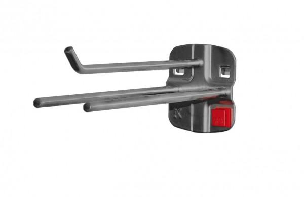 RasterPlan/ABAX Werkzeughalter 3-fach, L150 x B45 mm, anthrazitgrau.