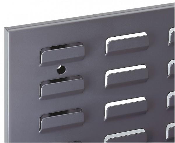 ®RasterPlan Schlitzplatte B 1000 mm x H 450 mm Breitformat RAL 7015 - Schiefergrau Universell kombinier- und einsetzbar. Kompatibel mit ®RasterPlan Lochplatten.