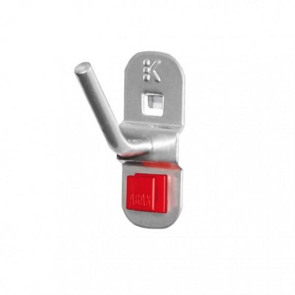®RasterPlan/ABAX® Schräghaken für Nüsse und Steckschlüssel Länge 14 / 40 mm Alufarben