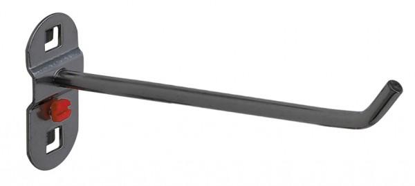 RasterPlan Werkzeughalter anthrazitgrau, L 150 mm, schräges Hakenende.